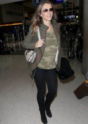 Elizabeth Hurley at Los Angeles International Airport