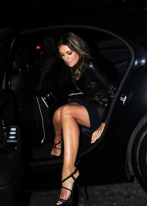 Elizabeth Hurley at Scott's Restaurant in London