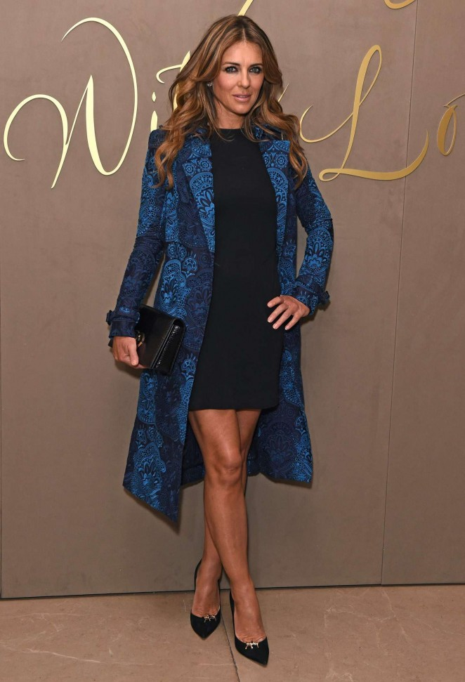 Elizabeth Hurley - Burberry Festive Film Premiere in London