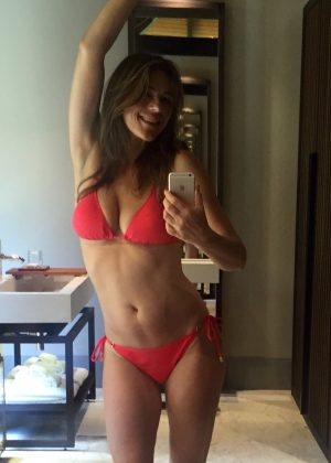 Elizabeth Hurley in Bikini - Twitter