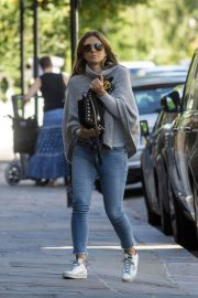 Elizabeth Hurley in Jeans - Out in London