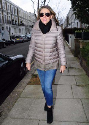 Elizabeth Hurley in Jeans Out in London