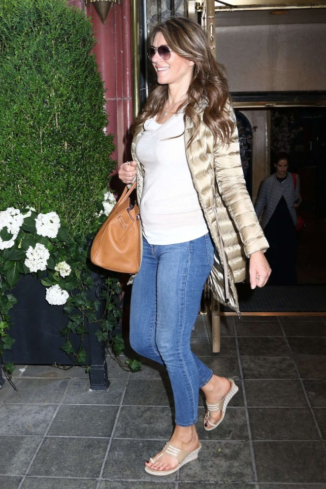 Elizabeth Hurley in Jeans out in New York