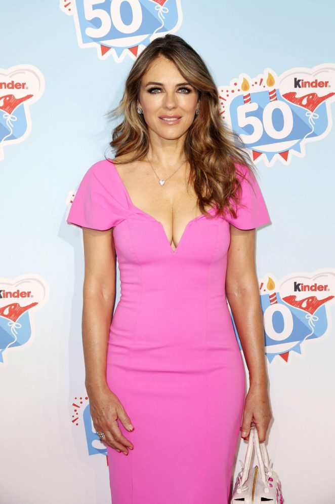 Elizabeth Hurley - Kinder Chocolate 50th Anniversary in Germany