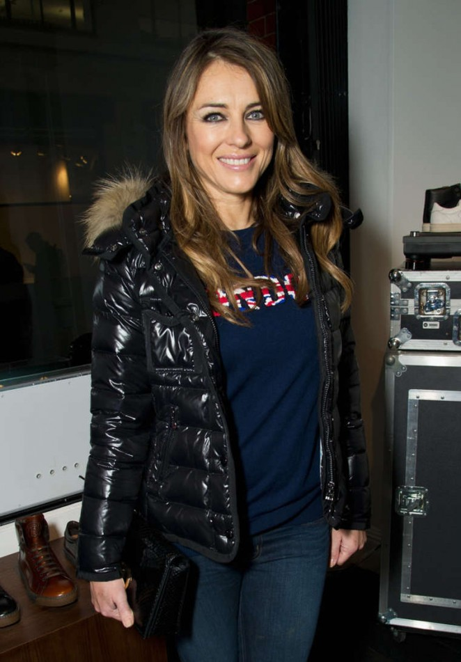 Elizabeth Hurley - LATHBRIDGE By Patrick Cox Presentation in London