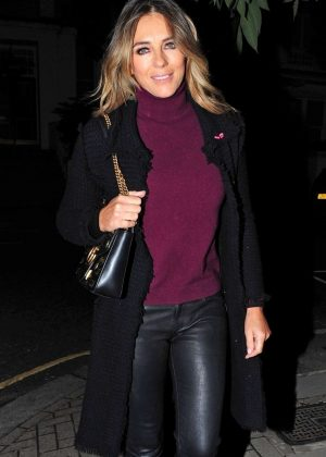 Elizabeth Hurley - Leaves her house in London