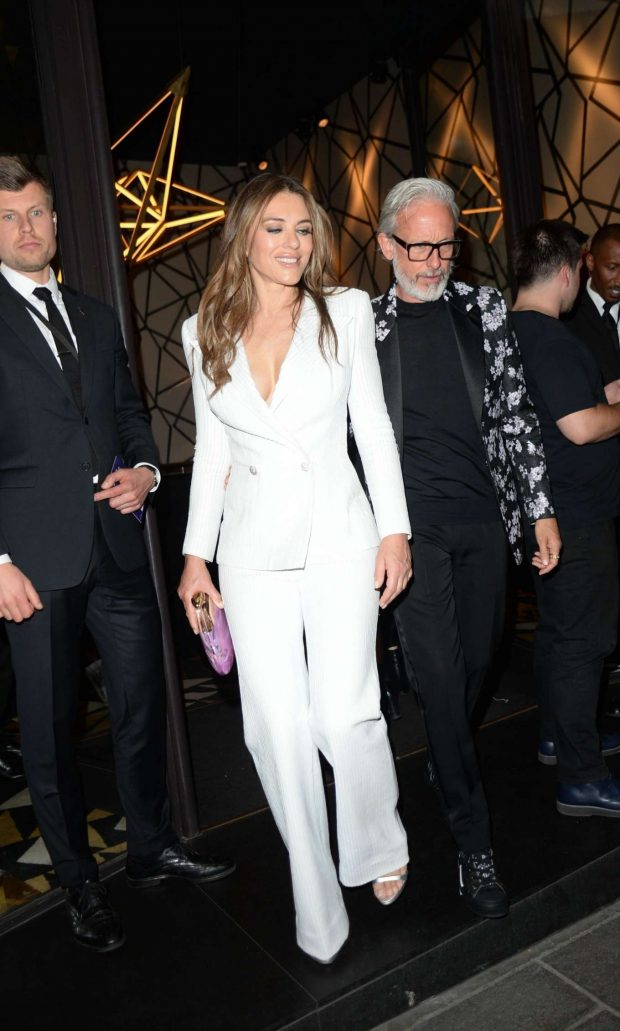 Elizabeth Hurley - Leaving 'Rocketman' Premiere in London