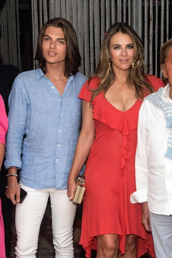 Elizabeth Hurley - Night out at Island Athens Riviera in Athens