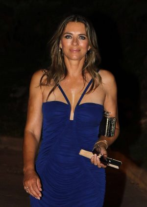 Elizabeth Hurley - Night out in Mallorca
