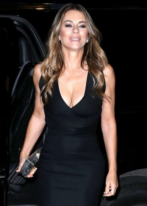 Elizabeth Hurley in Mini Dress night out in NYC