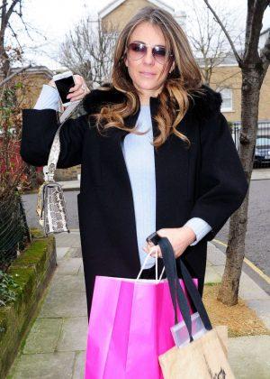 Elizabeth Hurley on a shopping spree in West London