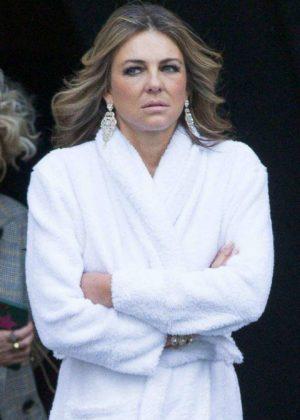 Elizabeth Hurley - On the set of The Royals TV show