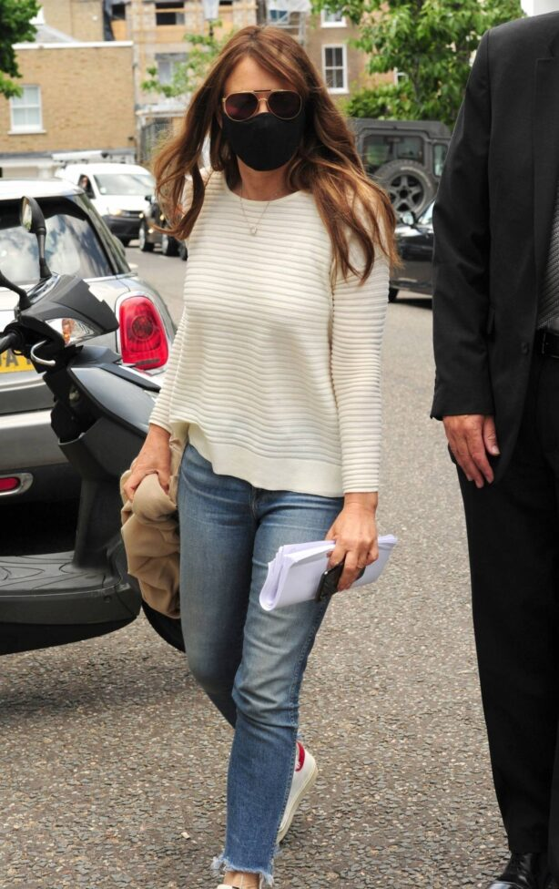 Elizabeth Hurley - Out and about in London
