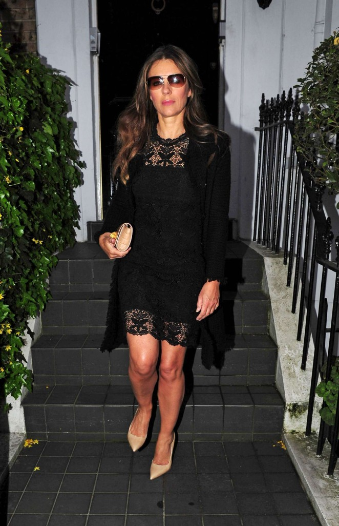 Elizabeth Hurley out and about in London