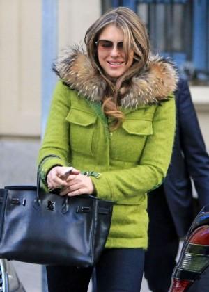Elizabeth Hurley and Valentino Garavani out in Madrid