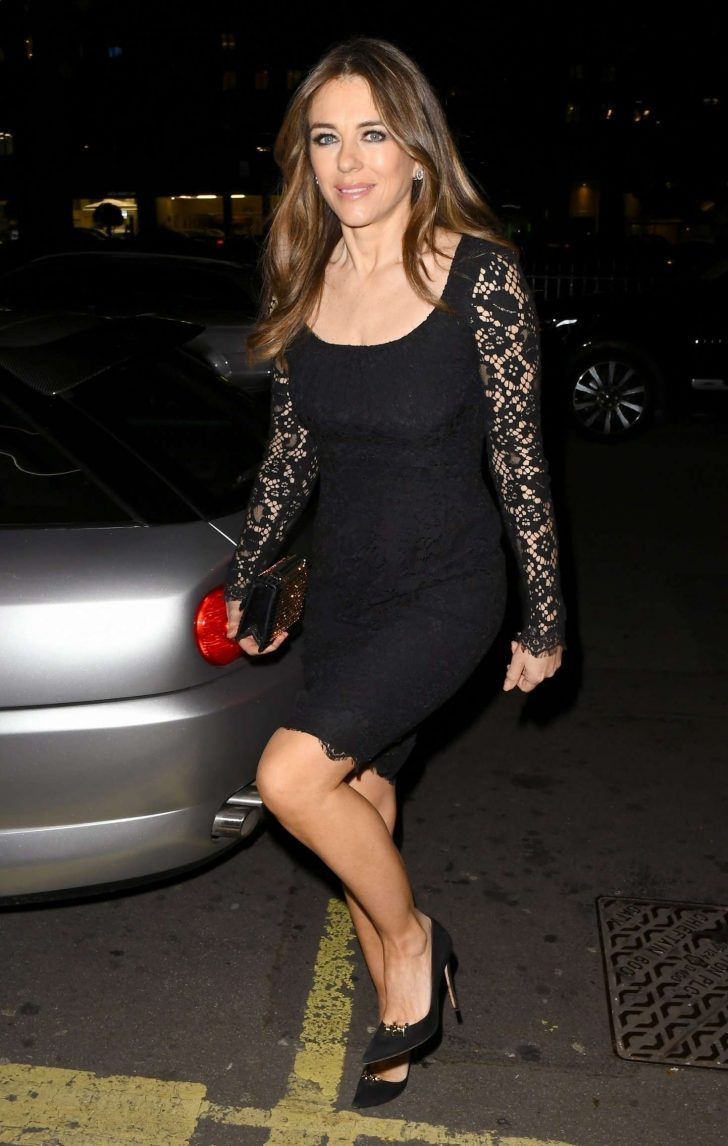 Elizabeth Hurley - Outside Annabel's Member's Club in London