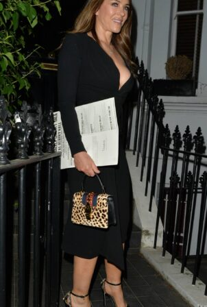 Elizabeth Hurley - Seen arriving home after watching a gala at The Royal Albert Hall