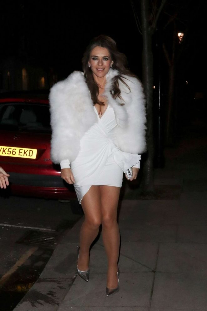 Elizabeth Hurley – Spotted at Evgeny Lebedev Christmas Party In London