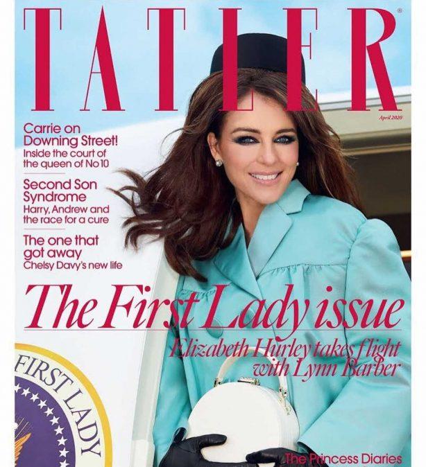 Elizabeth Hurley - Tatler Magazine UK Cover (April 2020)