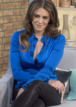 Elizabeth Hurley - 'This Morning' show in London