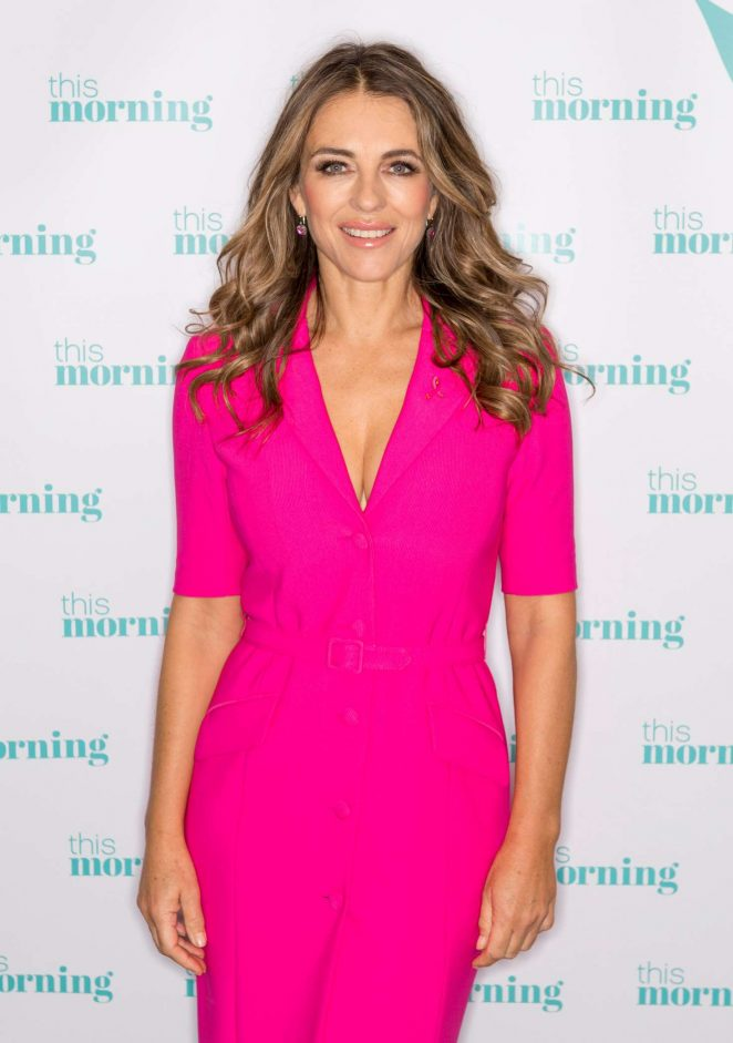 Elizabeth Hurley - 'This Morning' TV show in London