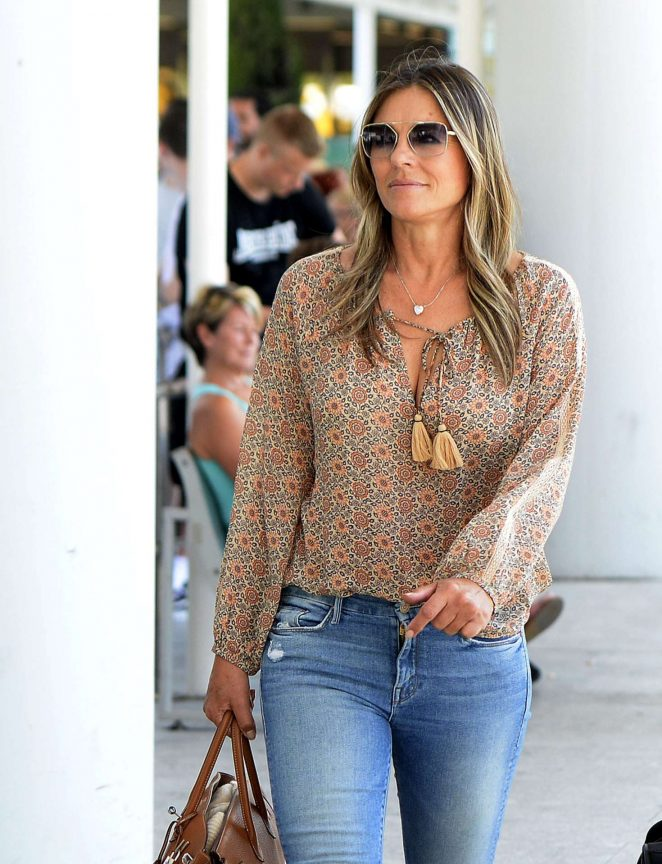 Elizabeth Hurley - Touches down in Palma