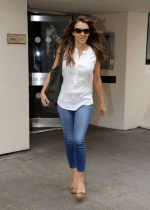 Elizabeth Hurley in Tight Jeans out in London