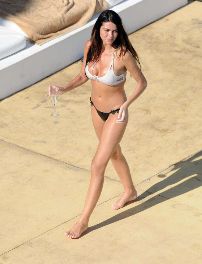 Elizabeth Jayne-Tierney in Bikini at the pool in Ibiza