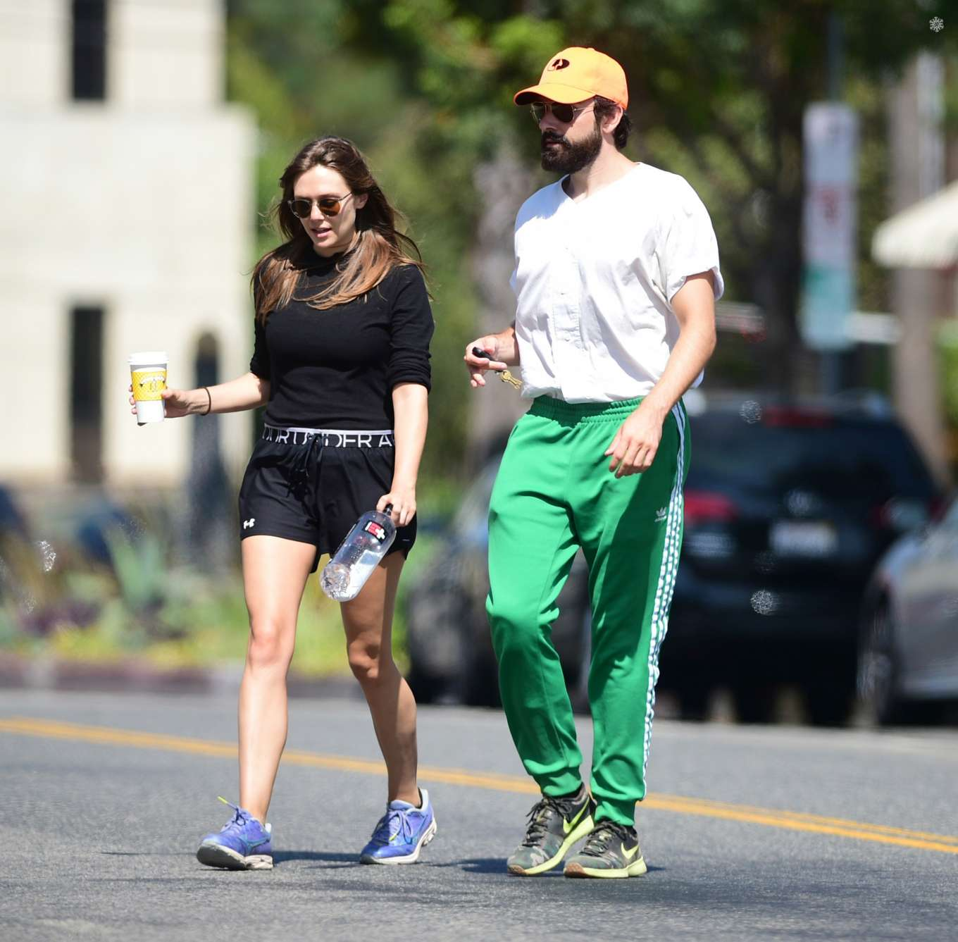Elizabeth Olsen 2019 : Elizabeth Olsen and Robbie Arnett – Head to their local gym in Studio City-01