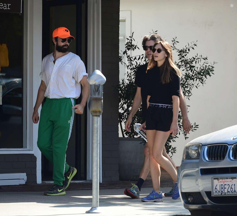 Elizabeth Olsen 2019 : Elizabeth Olsen and Robbie Arnett – Head to their local gym in Studio City-04