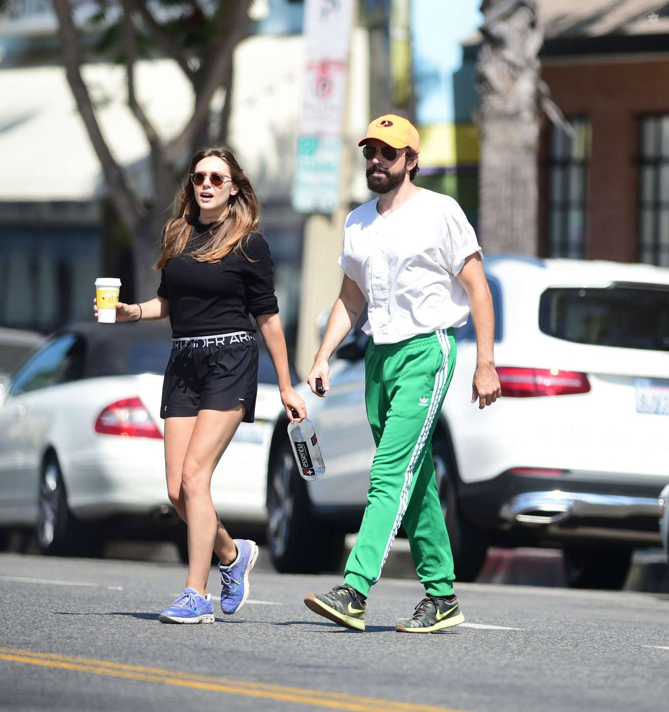 Elizabeth Olsen 2019 : Elizabeth Olsen and Robbie Arnett – Head to their local gym in Studio City-05