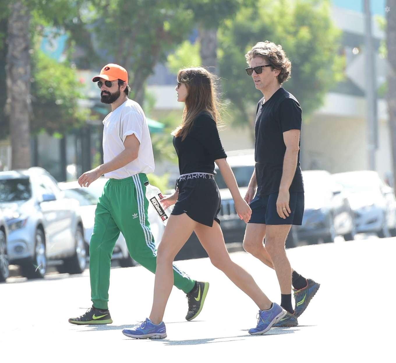 Elizabeth Olsen 2019 : Elizabeth Olsen and Robbie Arnett – Head to their local gym in Studio City-07
