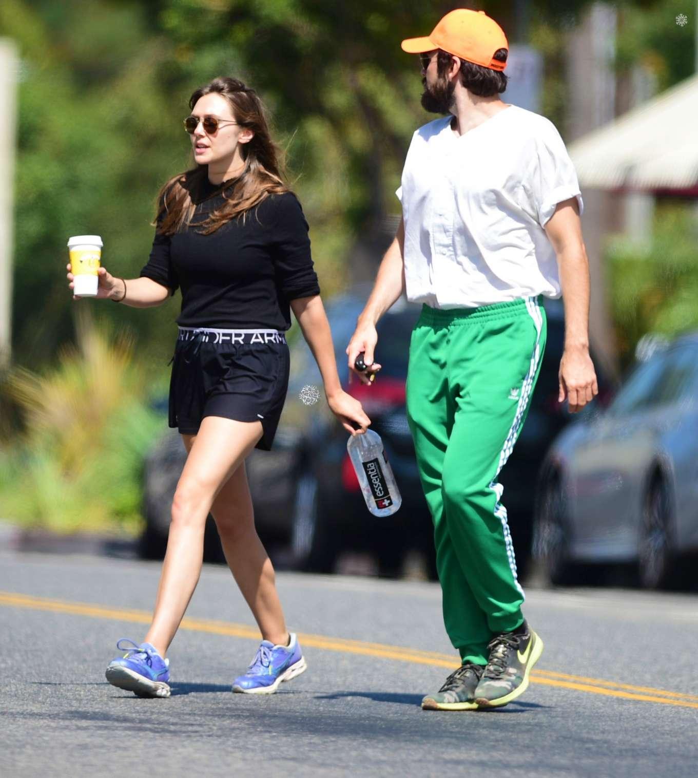 Elizabeth Olsen 2019 : Elizabeth Olsen and Robbie Arnett – Head to their local gym in Studio City-08