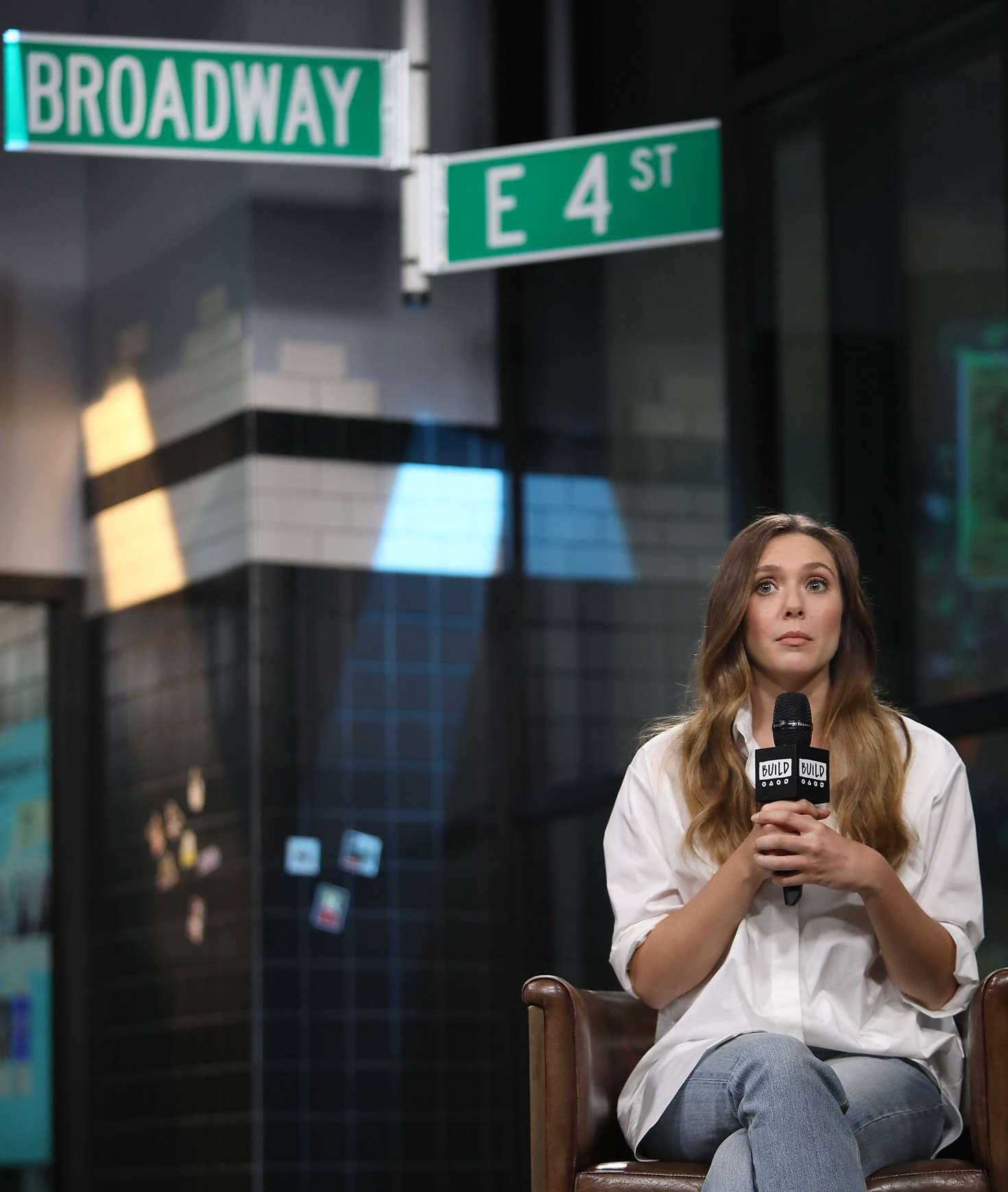 Elizabeth Olsen 2018 : Elizabeth Olsen: AOL BUILD Speaker Series -09