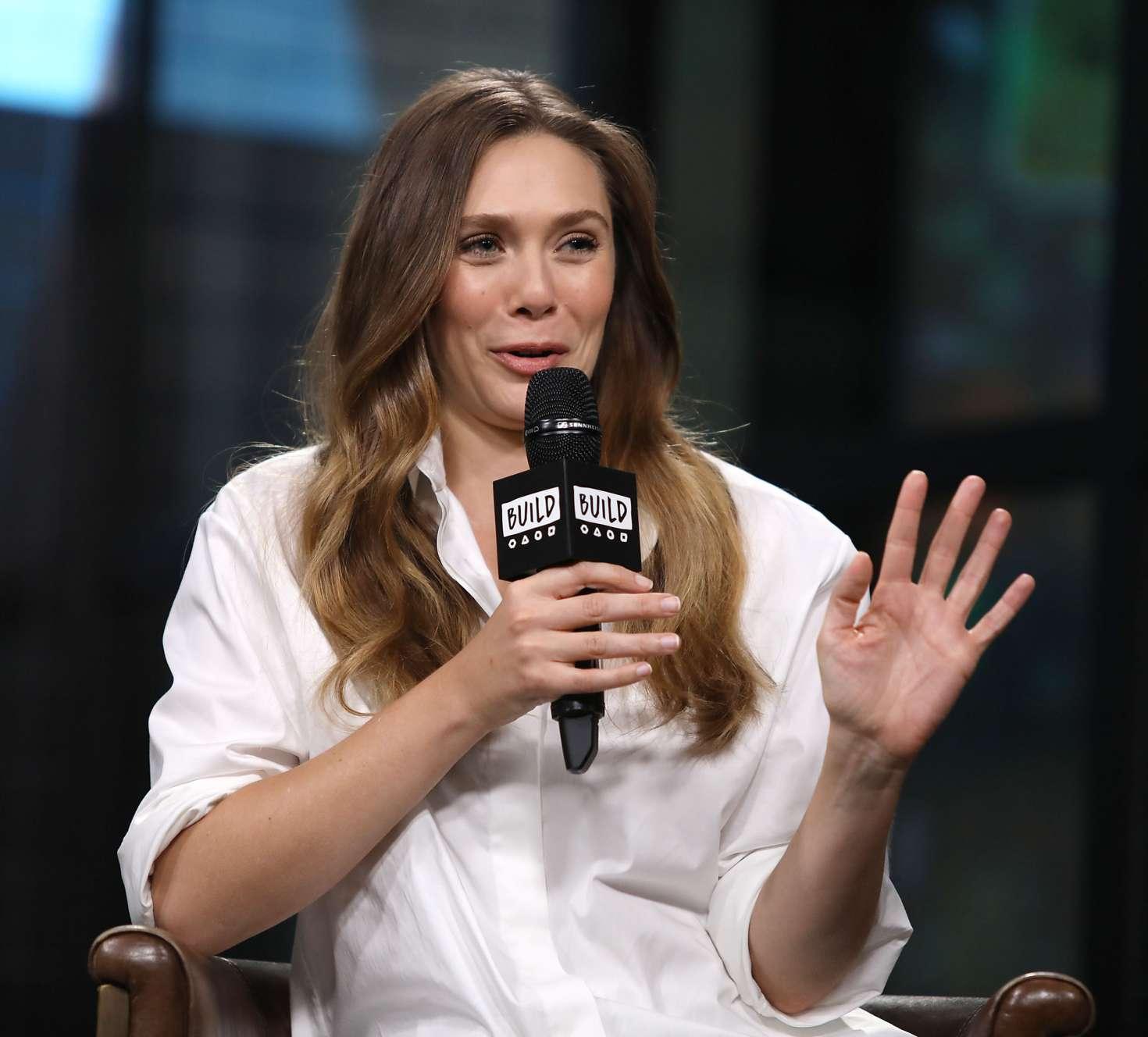 Elizabeth Olsen 2018 : Elizabeth Olsen: AOL BUILD Speaker Series -19