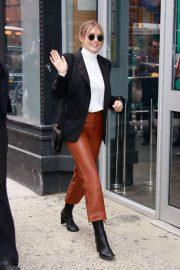 Elizabeth Olsen - Arrives at AOL Build in New York City