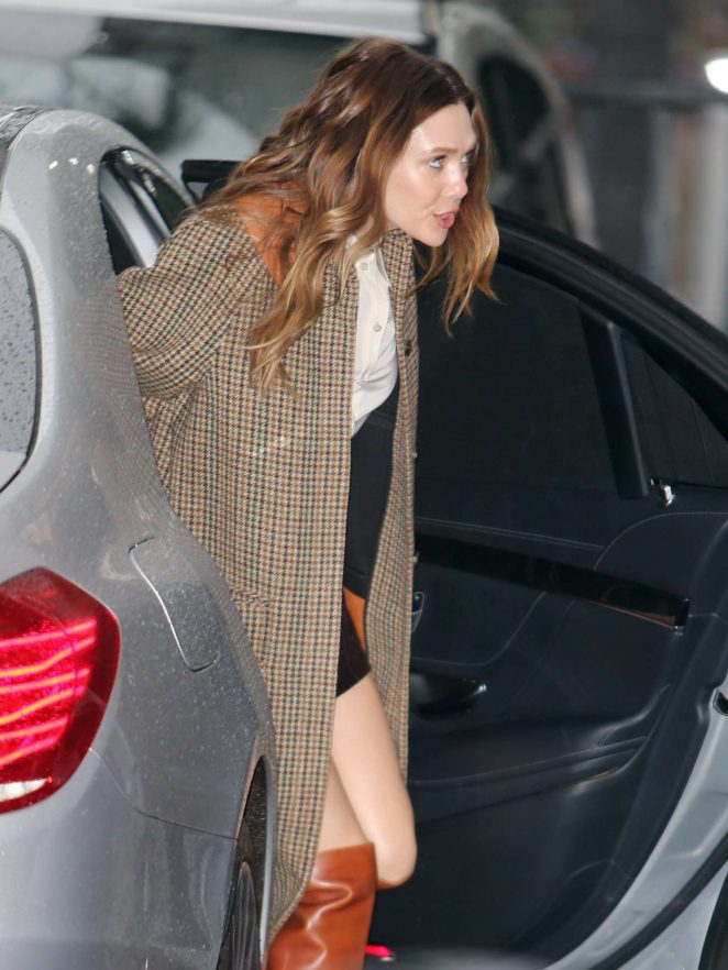 Elizabeth Olsen – Arrives at ITV Studios in London