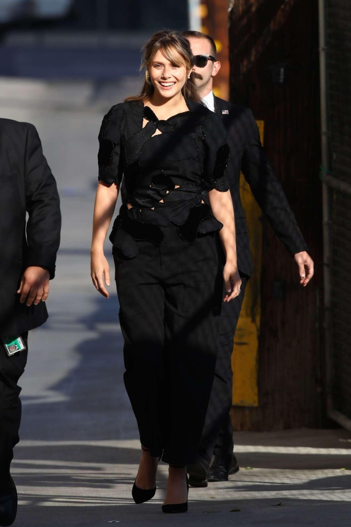 Elizabeth Olsen 2019 : Elizabeth Olsen – Arrives at Jimmy Kimmel Live-03