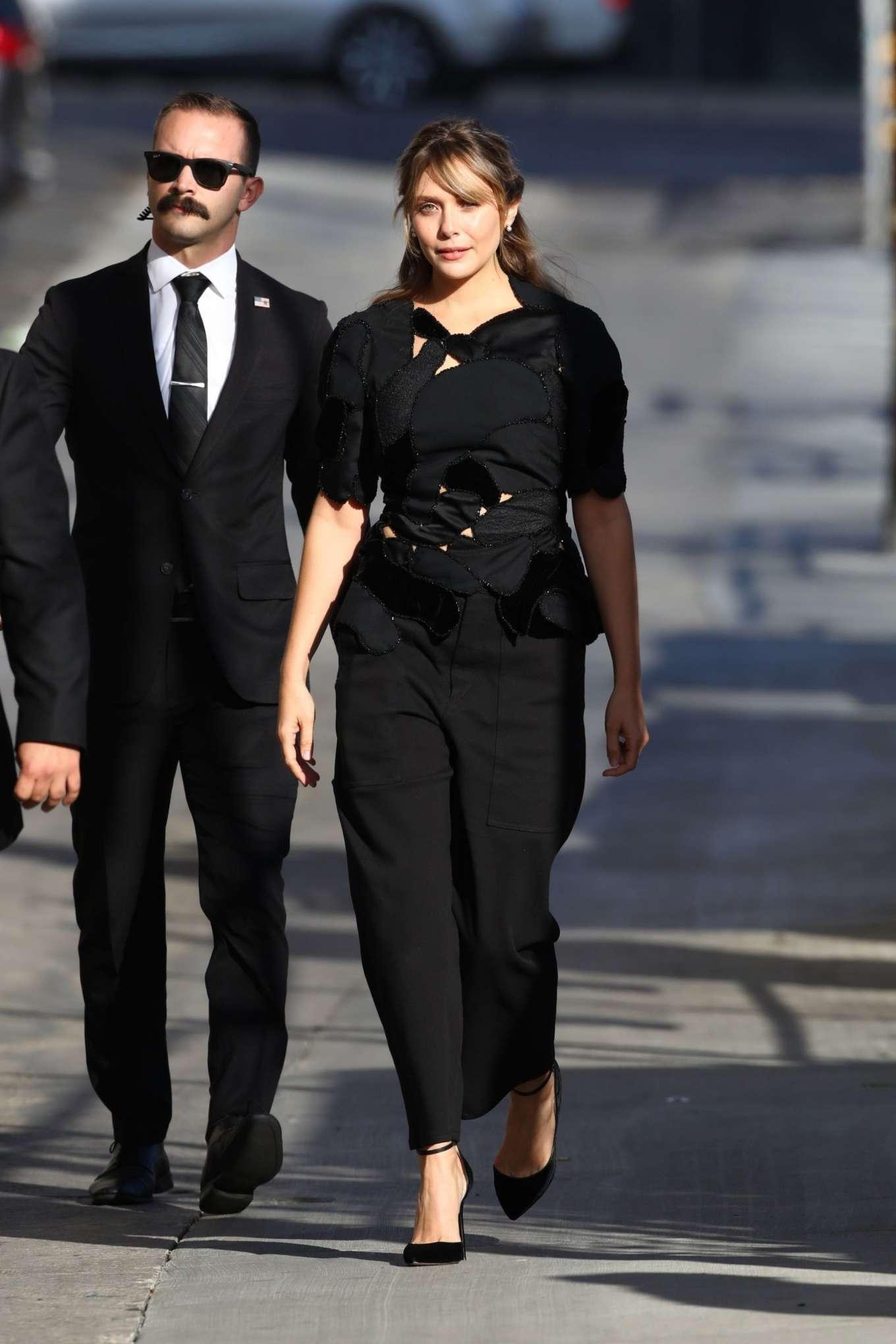 Elizabeth Olsen 2019 : Elizabeth Olsen – Arrives at Jimmy Kimmel Live-05