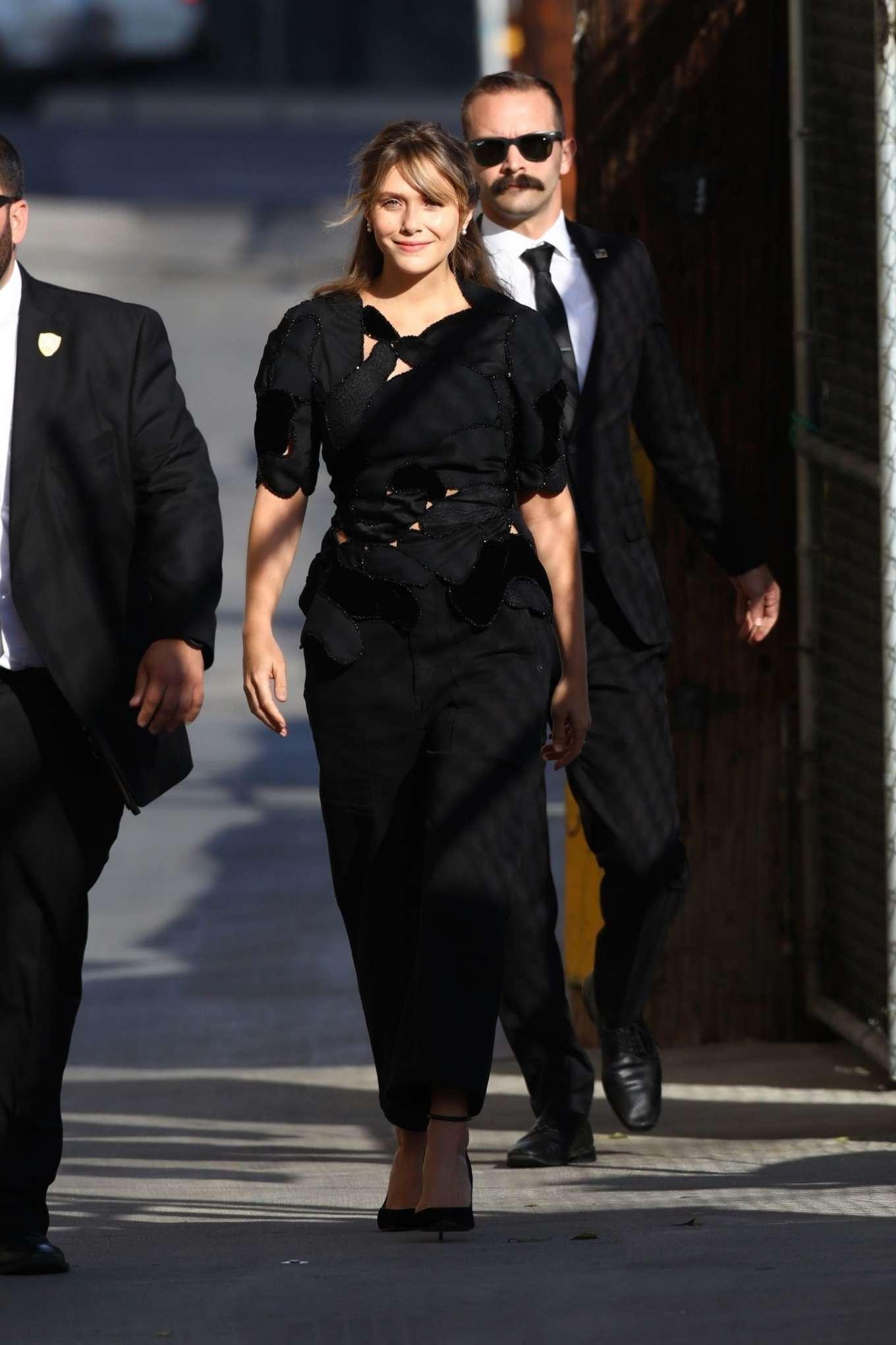 Elizabeth Olsen 2019 : Elizabeth Olsen – Arrives at Jimmy Kimmel Live-07