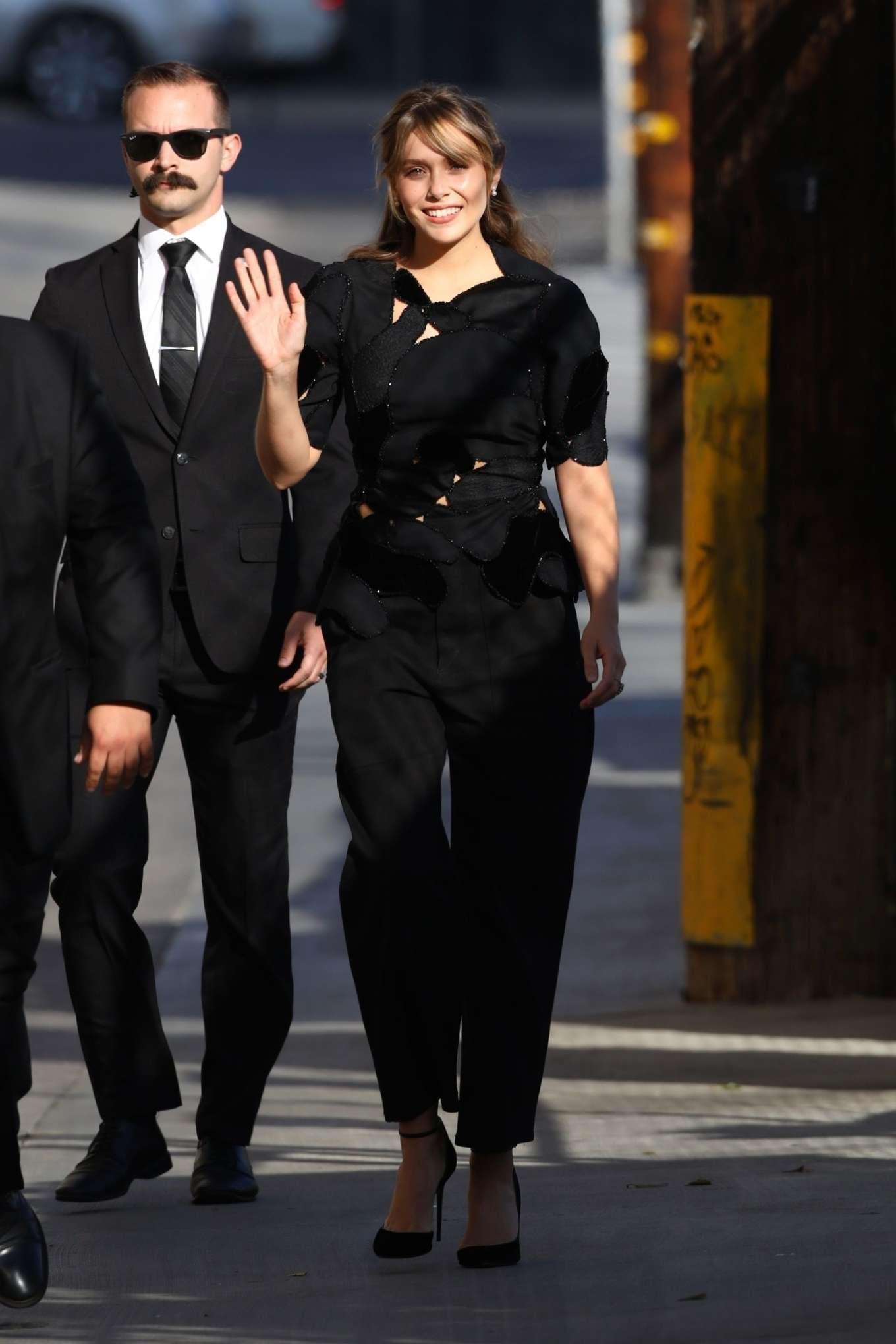 Elizabeth Olsen 2019 : Elizabeth Olsen – Arrives at Jimmy Kimmel Live-12