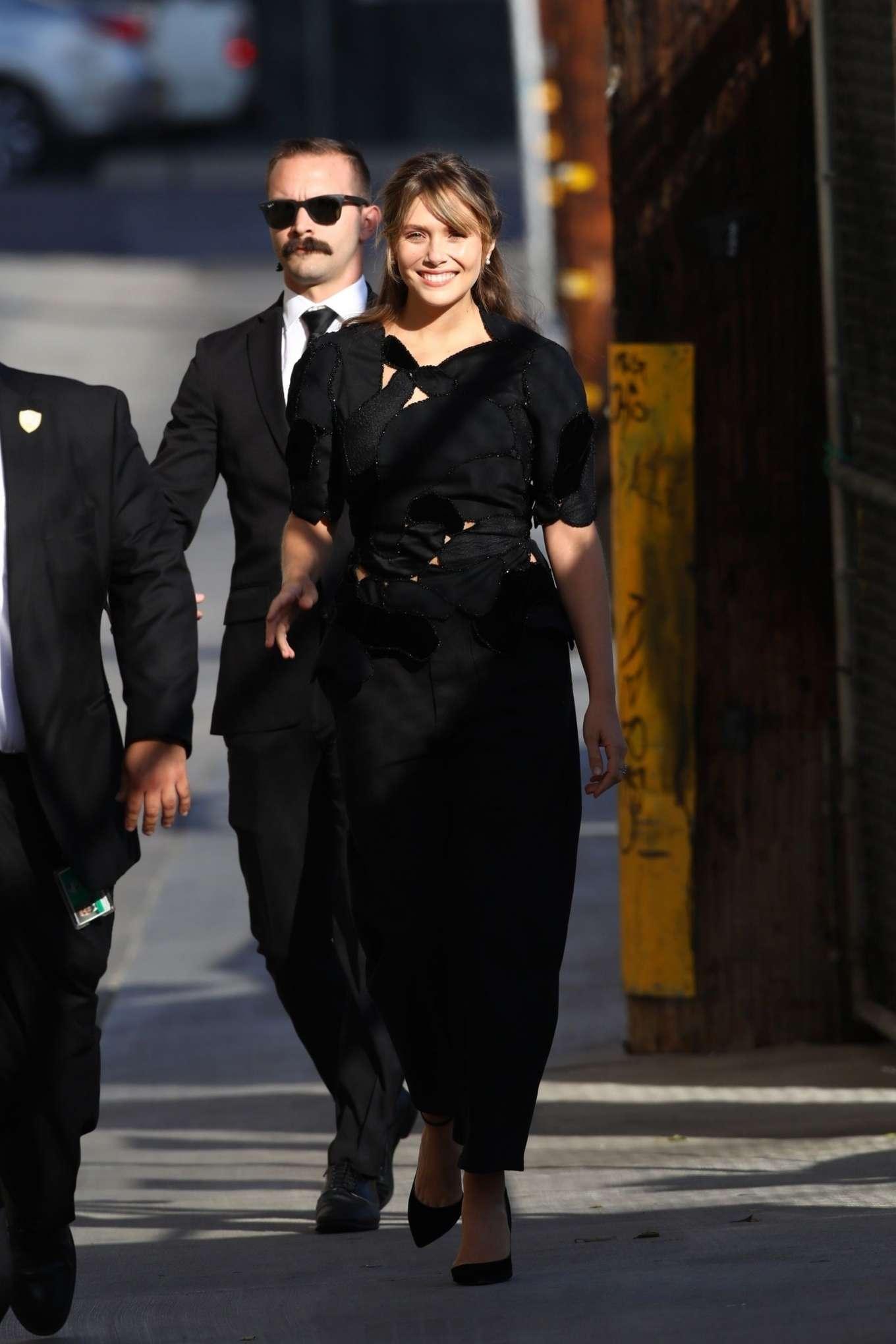 Elizabeth Olsen 2019 : Elizabeth Olsen – Arrives at Jimmy Kimmel Live-17