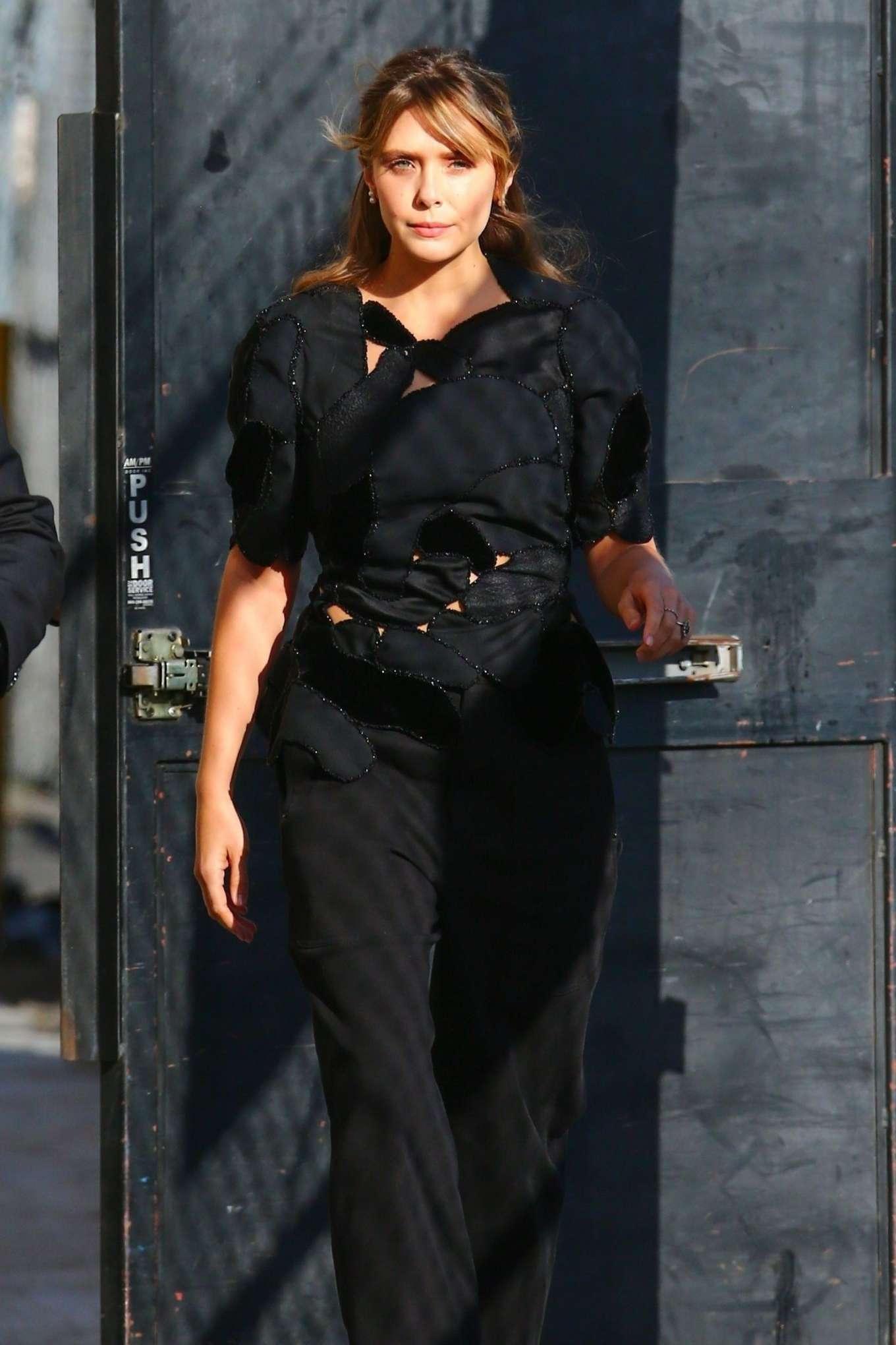 Elizabeth Olsen 2019 : Elizabeth Olsen – Arrives at Jimmy Kimmel Live-21