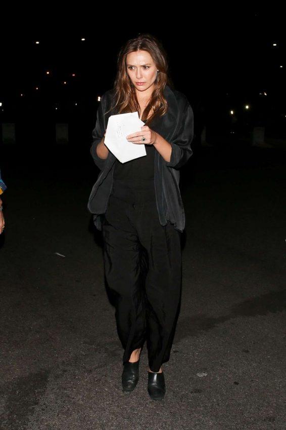 Elizabeth Olsen - arriving at Rolling Stones Concert in Pasadena