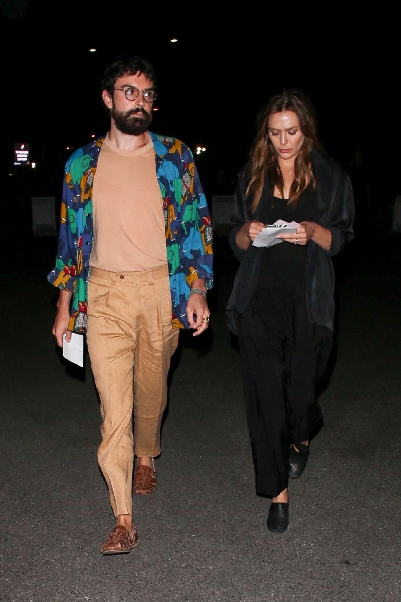 Elizabeth Olsen 2019 : Elizabeth Olsen – arriving at Rolling Stones Concert in Pasadena-09