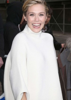 Elizabeth Olsen - Arriving at 'The Daily Show with Jon Stewart' in NYC