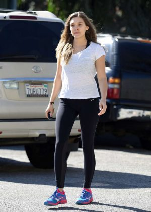 Elizabeth Olsen - Arriving to the Gym in Los Angeles