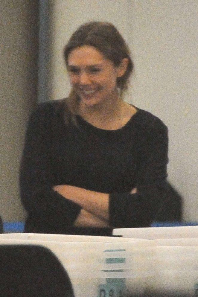 Elizabeth Olsen at LAX Airport in Los Angeles