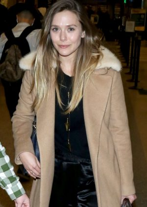 Elizabeth Olsen at Salt Lake Airport in Utah