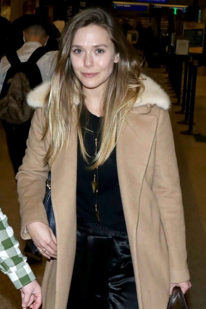Elizabeth Olsen at Salt Lake Airport in Utah